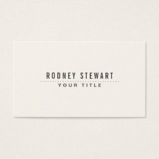 Modern minimalist generic off-white business card