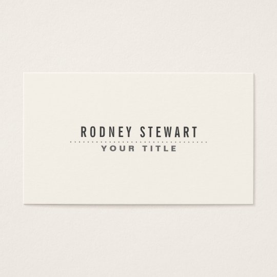 Modern minimalist generic off white business card zazzle modern minimalist generic off white business card reheart Gallery