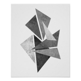 Modern minimalist geometric abstract art print