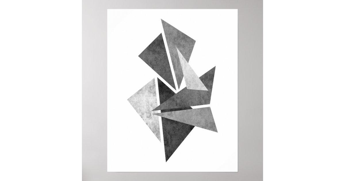 Modern minimalist geometric abstract art print zazzle for Minimal art gallery london