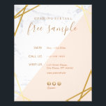 "Modern Minimalist Geometric Marble Promotional Flyer<br><div class=""desc"">Modern Chic Minimalist Geometric Pattern Marble Gold Light Pink Promotional Customizable Flyer #CustomizableFlyer #DIYFlyer #Stationary By AffordPrint @Zazzle with Social Media icons (Facebook, Twitter & Instagram) Easy to customize! Editable & Customizable! Perfect for many visual creative edge professions looking Ideal for Freelancers Event Planner, Wedding Planner, Consultant, Stylists, Designers, Artists,...</div>"