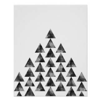 Modern minimalist geometric triangle art print