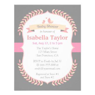 Modern Minimalist Girl Baby Shower Invitation Personalized Invitation