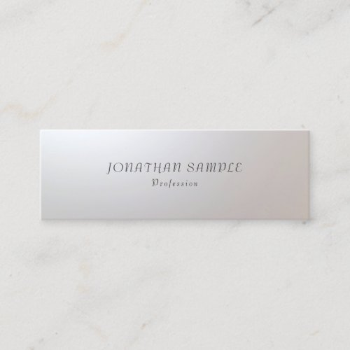 Modern Minimalist Glamour Stylish Simple Template Mini Business Card