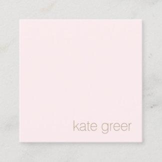 Modern Minimalist Light Pink Beauty Square Square Business Card