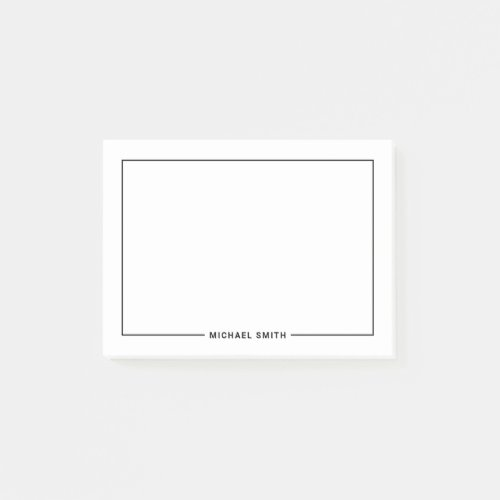 Modern Minimalist Personalized Name Post-it Notes