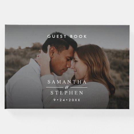 Modern Minimalist Photo Wedding Guest Book