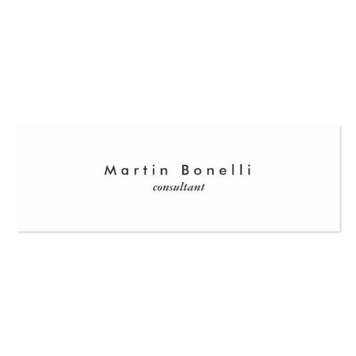 Modern Minimalist Plain Skinny Business Card