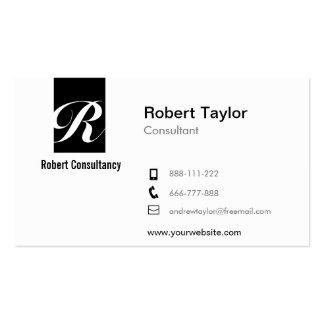 Modern Minimalist Professional Black and White Business Card
