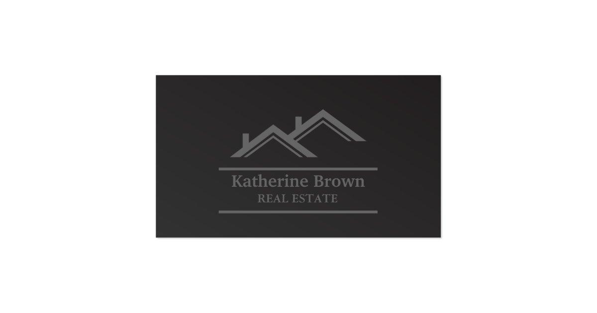 Modern minimalist professional real estate realtor for Modern real estate business cards