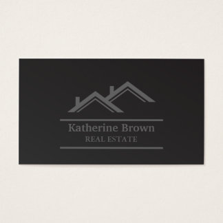 Modern Minimalist Professional Real Estate Realtor Business Card