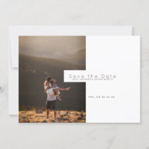 Modern Minimalist | Rustic Save the Date Photo Holiday Card