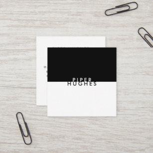 Modern business cards zazzle modern minimalist square business cards black colourmoves
