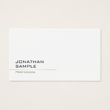 Modern Minimalist Trendy Professional Chic Gold Business Card