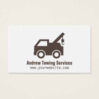 Modern Minimalist Truck Towing Services Business Card