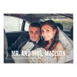 Modern Minimalist Wedding Announcement - White