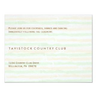 Modern Minimalist Wedding Reception Card