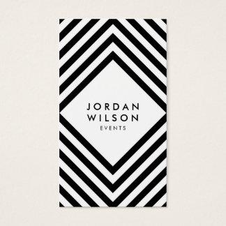 Modern Minimalist White and Black Social Media Business Card