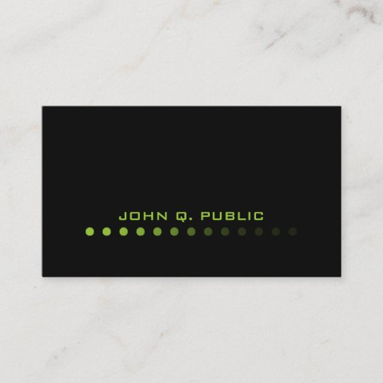 Modern minimalistic blacklime green business card zazzle modern minimalistic blacklime green business card reheart Gallery