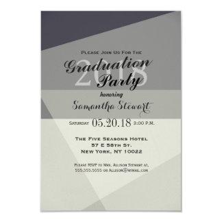 Modern Minimalistic Greyscale Geometric Card