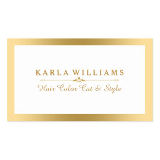 Modern Minimalistic Light Gold & White Business Card