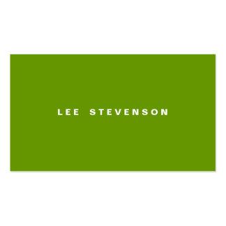 Modern Minimalistic Lime Green Business Card