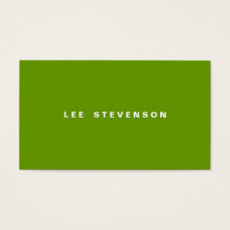 Lime green business cards templates zazzle modern minimalistic lime green business card reheart Images