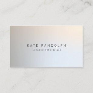 Minimalist business cards templates zazzle modern minimalistic professional luminous silver business card colourmoves