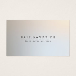 Esthetician business cards templates zazzle modern minimalistic professional luminous silver business card accmission Gallery