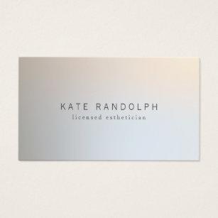 Esthetician business cards templates zazzle modern minimalistic professional luminous silver business card wajeb Gallery