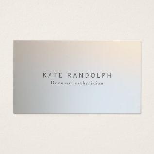 Modern Minimalistic Professional Luminous Silver Business Card at Zazzle