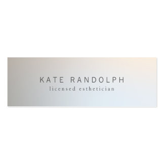 Modern Minimalistic Professional Luminous Silver Mini Business Card