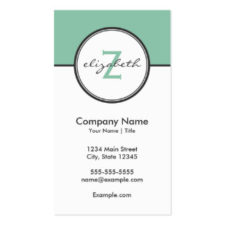 Modern Mint and Gray Business Card Templates