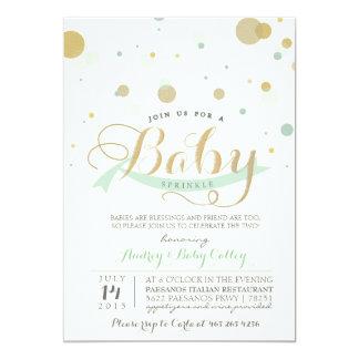 Modern Mint Baby Sprinkle Baby Shower Invitation