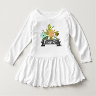 Modern Mint Chalkboard Flower Girl Wedding T-shirt