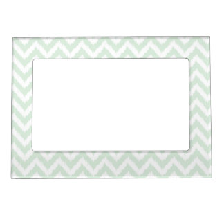 Modern Mint Chevron Ikat Pattern Photo Frame Magnet