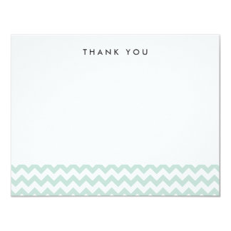 Modern Mint Chevron Thank You Note Cards