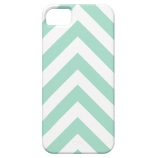 Modern Mint Green and White Arrow Chevron iPhone 5 Cases