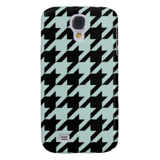 Modern Mint Houndstooth Samsung Galaxy S4 Case