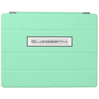 Modern Mint Microdot Monogram iPad 2/3/4 Cover iPad Cover