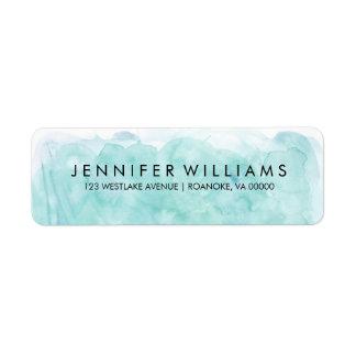 Modern Mint Watercolor Label
