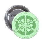 Modern Minty Green Christmas Snowflake Pinback Buttons
