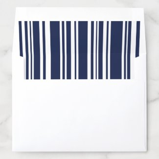 Modern Mixed Navy Blue White Stripes Pattern Envelope Liner