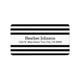 Modern Mod Black and White Return Address Labels