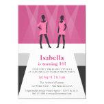 Modern Models Runway Fashion Show Birthday Party Card