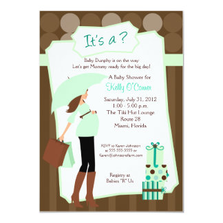 Modern Mom Baby Shower Invitation - Boy or Girl