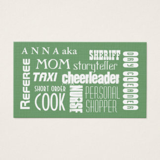 Modern Mom calling card green
