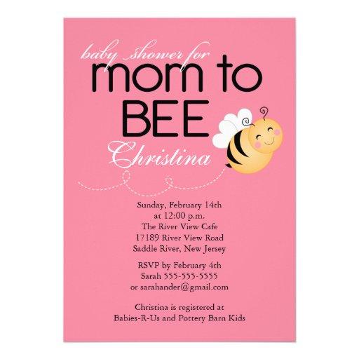 modern mom to bee baby shower invitation 5 x 7 invitation card