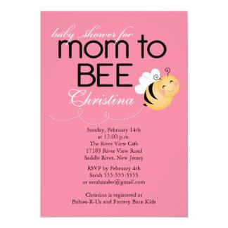 Modern Mom to Bee Baby Shower Invitation