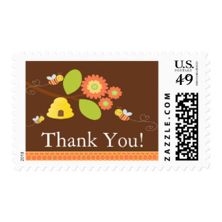 Modern Mom to Bee Baby Shower Postage
